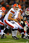 17 November 2008:  Cleveland Browns' quarterback Brady Quinn takes a snap in the third quarter against the Buffalo Bills at Ralph Wilson Stadium in Orchard Park, NY. The Browns defeated the Bills 29-27 in the Monday Night AFC matchup. *** Editorial Sales Only ****..Mandatory Photo Credit: Ed Wolfstein Photo