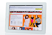 Apple Ipad showing Marks and Spencer Website  - Jan 2013.
