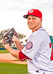 28 February 2016: Washington Nationals pitcher Austin Voth poses for his Spring Training Photo-Day portrait at Space Coast Stadium in Viera, Florida. Mandatory Credit: Ed Wolfstein Photo *** RAW (NEF) Image File Available ***