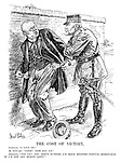 """The Cost of Victory. Germany. """"I give in!"""" M Poincare. """"Good! Now pay up."""" Germany. """"Pay up? You don't suppose I'd have stopped passive resistance if I'd got any money left?"""""""