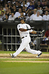CHICAGO - JULY 06:  Dayan Viciedo #24 of the Chicago White Sox bats against the Toronto Blue Jays on July 6, 2012 at U.S. Cellular Field in Chicago, Illinois.  The White Sox defeated the Blue Jays 4-2.  (Photo by Ron Vesely)  Subject:  Dayan Viciedo