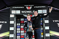 Picture by Simon Wilkinson/SWpix.com - 16/05/2017 - Cycling - Tour Series Round 4, Wembley - Matrix Fitness Grand Prix - Drops Cylcing's Alice Barnes takes the Brother Cycling Fastest Lap on the evening.