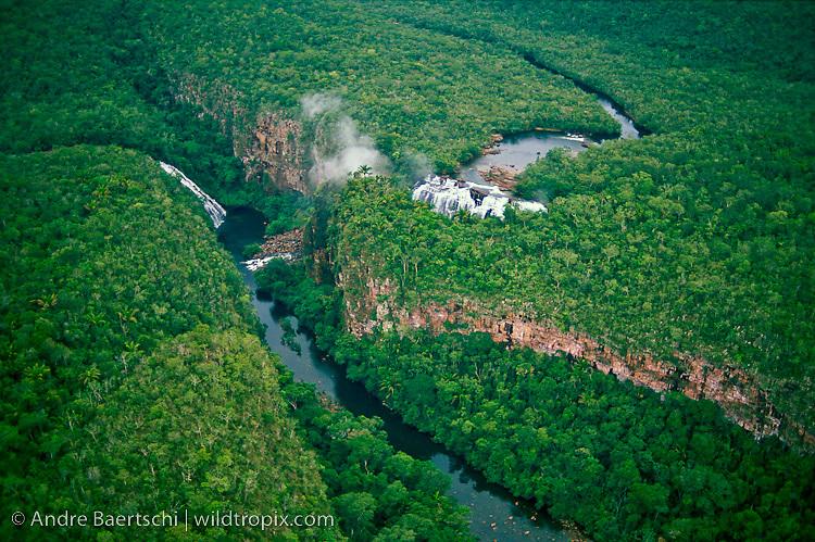 Rio Paucerna and Catarata Arco Iris, lowland tropical rainforest, Noel Kempff Mercado National Park, Santa Cruz, Bolivia.