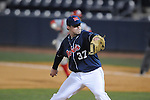 Ole Miss' Blair Wright (37) pitches at Oxford-University Stadium in Oxford, Miss. on Wednesday, March 9, 2010.