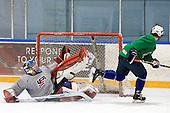 Mike Lee (USA - 30), Ryan Bourque (USA - 17) - Team USA practiced at the Agriplace rink on Monday, December 28, 2009, in Saskatoon, Saskatchewan, during the 2010 World Juniors tournament.