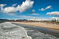 Santa Monica beach on Friday, November 9, 2012.