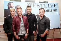 NO REPRO FEE. 4/10/2011. Westlife Announce their final show. Pictured at the Four Seasons Hotel Dublin are Westlife - Shane Mark, Nicki and Kian announcing their grand finale after 14 years together at  Croke Park Dublin  on Saturday 23 rd June 2012 with special guests the Wanted. Tickets on sale with Ticketmaster at 8am on Friday 11 November at €59.50. For more information contact Tara McCormack-tara@mcd.ie/012841741