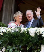 King Albert II of Belgium & Queen Paola , their last Royal public official visit - Belgium