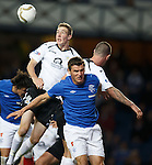Lee McCulloch causing chaos at a corner kick in the QOS area