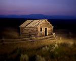 A trapper's cabin on Mill Creek Road near Anaconda, Montana.