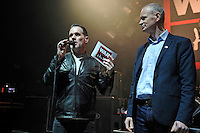 FEB 20 Chris Moyles and War Child CEO Rob Williams  at Biffy Clyro concert for War Child