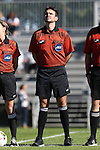 19 October 2014: Fourth official Jeremy Smith. The Duke University Blue Devils hosted the University of North Carolina Tar Heels at Koskinen Stadium in Durham, North Carolina in a 2014 NCAA Division I Women's Soccer match. North Carolina won the game 3-0.