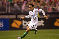 Chivas de Guadalajara forward Omar Bravo redirects looking for the ball. Chivas USA and CD Chivas de Guadalajara played to a 0-0 draw at Petco Park stadium in San Diego, California on Tuesday September 14, 2010.