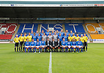 St Johnstone FC...First Team Squad 2013-14<br /> Back row from left, Scott Brown, Tom Scobbie, Gareth Rodger, Rory Fallon, Steven Anderson, Steven MacLean, Brian Easton, Gary Miller and Gwion Edwards.<br /> Middle row from left, Jocky Peebles (U20 Assistant), Ewan Peacock (U20 Coach), Fearghal Kerin (Head Physio) George Browning (U20 Goalkeeping Coach), Murray Davidson, Chris Kane, Stevie Banks, Alan Mannus, Zander Clark, David Wotherspoon, Gary McDonald, Alec Cleland (First Team Coach), Graham Kirk (Sports Scientist), Alistair Stevenson (Youth Development Manager), Tommy Campbell (Kit Manager) and Alan Lochtie (Asst Physio).<br /> Front row from left, Liam Caddis, Paddy Cregg, Chirs Millar, Dave Mackay, Tommy Wright (Manager), Steve Brown (Chairman), Callum Davidson (Assistant Manager) Frazer Wright, Nigel Hasselbaink, Stevie May and David Robertson.<br /> Picture by Graeme Hart.<br /> Copyright Perthshire Picture Agency<br /> Tel: 01738 623350  Mobile: 07990 594431