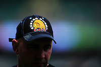 A general view of the Exeter Chiefs emblem on a baseball cap. Aviva Premiership Final, between Saracens and Exeter Chiefs on May 28, 2016 at Twickenham Stadium in London, England. Photo by: Patrick Khachfe / JMP