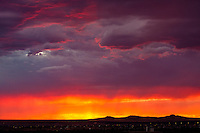 Dramatic sunset during the July 2011 monsoon season in Albuquerque, New Mexico.