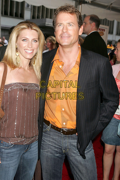 """GREG KINNEAR & GUEST.At the """"Bad News Bears"""" Film Premiere held at the Ziegfeld Theatre, New York City, NY, .USA, 18 July 2005..half length .Ref: ADM.www.capitalpictures.com.sales@capitalpictures.com.©Alec Cole/AdMedia/Capital Pictures."""