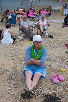 Wells Next The Sea, Norfolk, England, 05/08/2009..Party on Wells beach.