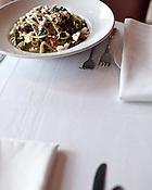 January 29, 2010. Durham, North Carolina.. Vegetarian cuisine at Parisade at Erwin Square in Durham, NC.. Lemon Linguini.