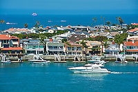 Newport Beach, CA, Newport Bay, Balboa Island, Little Balboa Island, Balboa Peninsula, Orange County, California,