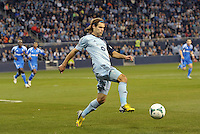 Graham Zusi (8) midfield Sporting KC in action..Sporting Kansas City defeated Montreal Impact 2-0 at Sporting Park, Kansas City, Kansas.