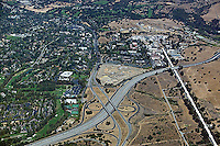 aerial view of Stanford Linear accelerator venture capital offices Sand Hill Road interstate 280 interchange Menlo Park CA
