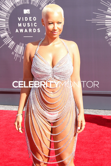 LOS ANGELES, CA, USA - AUGUST 24: Amber Rose at the 2014 MTV Video Music Awards held at The Forum on August 24, 2014 in the Los Angeles, California, United States. (Photo by Xavier Collin/Celebrity Monitor)