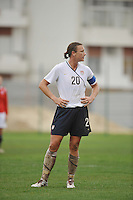 Abby Wambach vs Norway during the 2010 Algarve Cup.