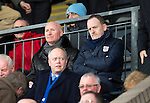 St Johnstone v St Mirren.....23.02.13      SPL.New Dundee Manager John Brown watches the game with Chief Exec Scott Gardiner.Picture by Graeme Hart..Copyright Perthshire Picture Agency.Tel: 01738 623350  Mobile: 07990 594431