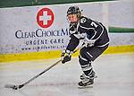 1 February 2015: Providence College Friar Defender Liv Halvorson, a Sophomore from Richfield, MN, in third period action against the University of Vermont Catamounts at Gutterson Fieldhouse in Burlington, Vermont. The Friars fell to the Lady Cats 7-3 in Hockey East play. Mandatory Credit: Ed Wolfstein Photo *** RAW (NEF) Image File Available ***