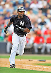 5 March 2011: New York Yankees' infielder Eduardo Nunez in action during a Spring Training game against the Washington Nationals at George M. Steinbrenner Field in Tampa, Florida. The Nationals defeated the Yankees 10-8 in Grapefruit League action. Mandatory Credit: Ed Wolfstein Photo