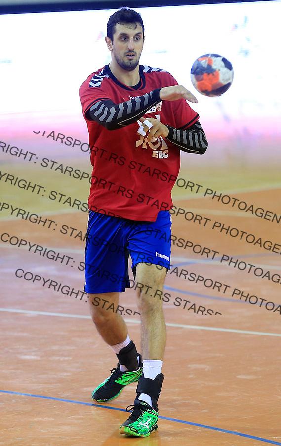 Rukomet-Handball<br /> Srbija v Rumunija-Prijateljski mec friendly match<br /> Ilija Abutovic<br /> Beograd, 28.12.2015.<br /> foto: Srdjan Stevanovic/Starsportphoto&copy;