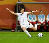 Carli Lloyd.  Japan won the FIFA Women's World Cup on penalty kicks after tying the United States, 2-2, in extra time at FIFA Women's World Cup Stadium in Frankfurt Germany.