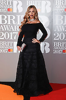 Holly Hagan at the 2017 Brit Awards at the O2 Arena in London, UK. <br /> 22 February  2017<br /> Picture: Steve Vas/Featureflash/SilverHub 0208 004 5359 sales@silverhubmedia.com