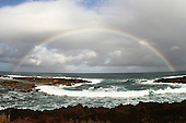 Feb 17, 2007; O'ahu, HI - A full rainbow somewhere on the North Shore just past Waimea Bay...Photo credit: Darrell Miho