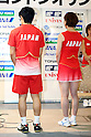 (L to R) Sho Sasaki (JPN), Miyuki Maeda (JPN), .June 9, 2012 - Badminton : .Badminton Japan National Team Send-off Ceremony for the London Olympics 2012 .in Tokyo, Japan. .(Photo by Daiju Kitamura/AFLO SPORT) [1045]