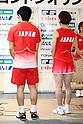 (L to R) Sho Sasaki (JPN), Miyuki Maeda (JPN), .June 9, 2012 - Badminton : .Badminton Japan National Team Send-off Ceremony for the London Olympics 2012 .in Tokyo, Japan. .(Photo by Daiju Kitamura/AFLO SPORT) [1045]