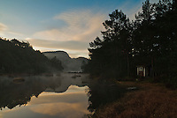 Calm mourning at Johannesvatnet (the Johanneslake), in Sandnes, Rogaland, Norway.