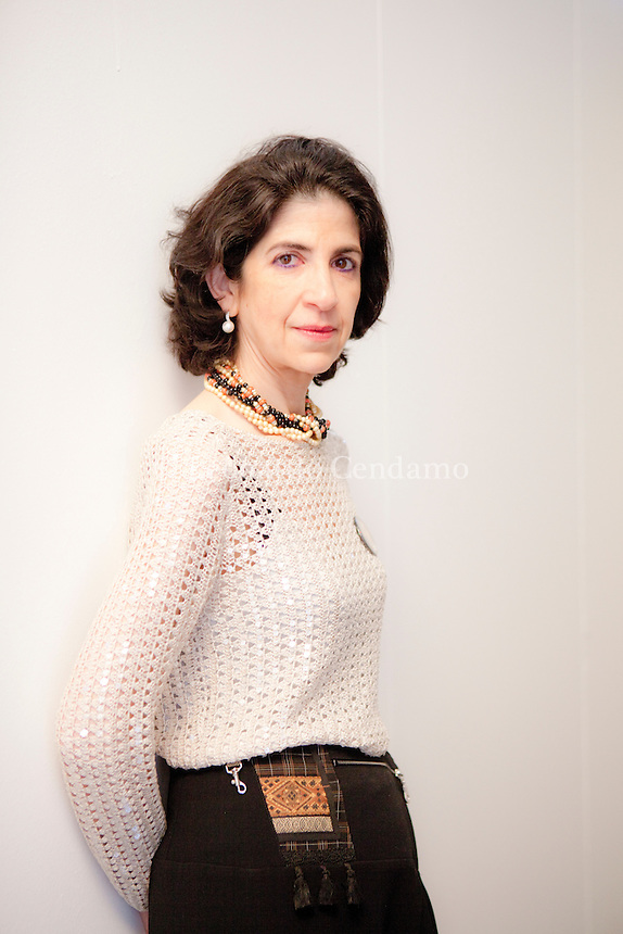 Fabiola Gianotti (born 1962) is an Italian particle physicist, in charge of the ATLAS experiment at the Large Hadron Collider (LHC) at CERN in Switzerland. Nonino Price 2013, © Leonardo Cendamo