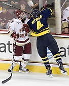 Barry Almeida (BC - 9), Jordan Heywood (Merrimack - 4) - The Boston College Eagles defeated the visiting Merrimack College Warriors 3-2 on Friday, October 29, 2010, at Conte Forum in Chestnut Hill, Massachusetts.