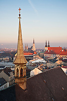 Rooftop view from St. Maurice chuch, Olomouc, Czech Republic