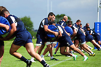 Bath Rugby players in action. Bath Rugby pre-season training session on August 9, 2016 at Farleigh House in Bath, England. Photo by: Patrick Khachfe / Onside Images