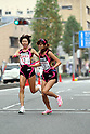(L-R) Chika Horie, Nami Tani (Universal Entertainment), NOVEMBER 3, 2011 - Ekiden : East Japan Industrial Women's Ekiden Race at Saitama, Japan. (Photo by Toshihiro Kitagawa/AFLO)