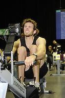 Birmingham, Great Britain, Men's Student Hwt, Bronze medallist, Deaglan McEACHERN, CUBC, competing at the 2008 British Indoor Rowing Championships, National Indoor Arena. on  Sunday 26.10.2008 . [Photo, Peter Spurrier/Intersport-images] ..