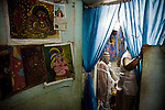Some unlicensed Cubans turn to selling their own art from home to lure additional income in order to support themselves, in Havana, Cuba, on April 26, 2008. The average Cuban earns less then $20 a month..