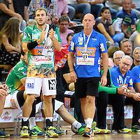 rechts Trainer Magnus Andersson (FAG), links Marcel Schiller (FAG)