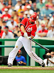 19 June 2011: Washington Nationals' infielder Danny Espinosa in action against the Baltimore Orioles at Nationals Park in Washington, District of Columbia. The Orioles defeated the Nationals 7-4 in inter-league play, ending Washington's 8-game winning streak. Mandatory Credit: Ed Wolfstein Photo