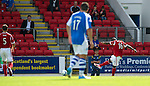 St Johnstone v Aberdeen....18.08.12   SPL.Isaac Osbourne opens the scoring.Picture by Graeme Hart..Copyright Perthshire Picture Agency.Tel: 01738 623350  Mobile: 07990 594431