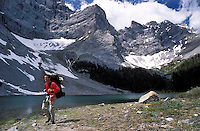 CANADA, ALBERTA, KANANASKIS, MAY 2002. The beautiful  Tombstone lakes are surrounded by mountains. The Kananaskis Country provincial park is home to Canada's most beautiful nature and wildlife. It has also escaped the mass tourism as in Banff National Park. Photo by Frits Meyst/Adventure4ever.com