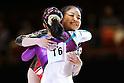 (L to R) Huang Qiushuang (CHN), Yu Minobe (JPN), November 26, 2011 - Artistic Gymnastics : FIG Artistic Gymnastics World Cup, Tokyo Cup 2011 Women's Individual All-round Medal Ceremony at Ryogoku-kokugikan, Tokyo, Japan. (Photo by Daiju Kitamura/AFLO SPORT) [1045]